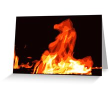 This Horse is on Fire Greeting Card