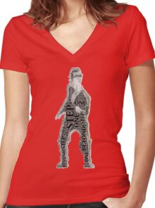 Well listen buster you'd better to start to move your feet Women's Fitted V-Neck T-Shirt