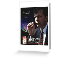 Morley Cigarettes Ad Greeting Card