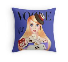 My Name is Alice and this is my Wonderland ( Blue Version) Throw Pillow