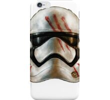 Finn's Dirty Stormtrooper Helmet - Star Wars iPhone Case/Skin
