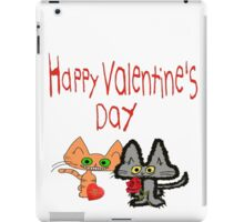Cats Wishing A Happy Valentine's Day iPad Case/Skin