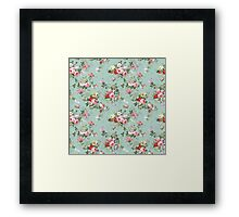 Chic elegant pink roses beautiful flowers pattern Framed Print