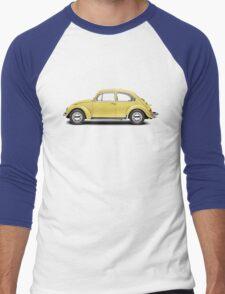 1972 Volkswagen Beetle - Saturn Yellow Men's Baseball ¾ T-Shirt