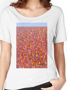 Red metro Women's Relaxed Fit T-Shirt