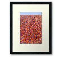Red metro Framed Print