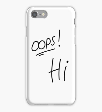 One Direction Oops Hi Tattoos iPhone Case/Skin