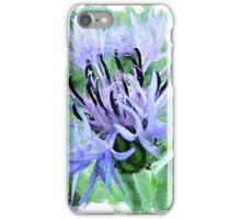 Blue cornflower watercolour iPhone Case/Skin