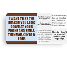 Funny Sayings Canvas Print
