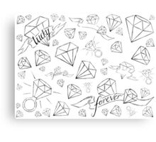 forever lucky Canvas Print