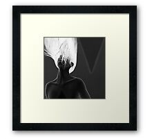 My Anxiety - Self Portrait Framed Print