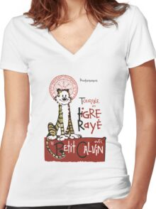 Tigre Raye Women's Fitted V-Neck T-Shirt