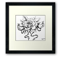 Rosary Rose Framed Print