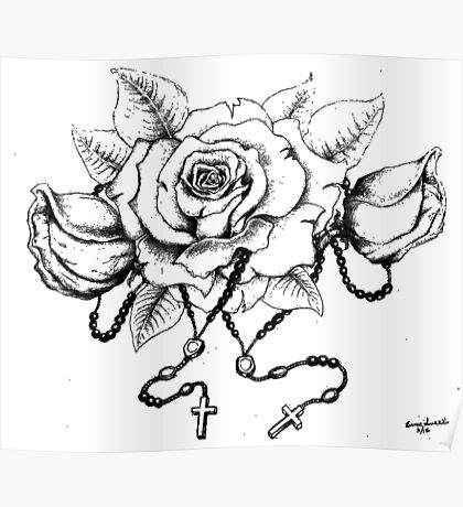 Rosary Rose Poster