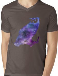 Galaxy Owl Mens V-Neck T-Shirt