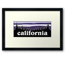 Purple California Framed Print