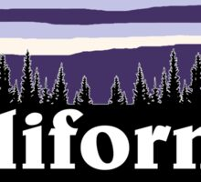 Purple California Sticker