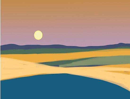 Sunset landscape by goanna