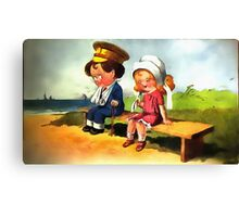 First Love - Cartoon Art Canvas Print