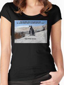Penguin Philosophy, Do Not Follow Women's Fitted Scoop T-Shirt