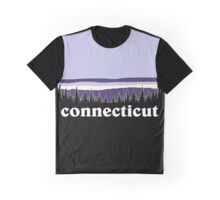 Purple Connecticut Graphic T-Shirt