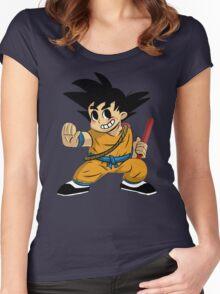 Kid Goku Women's Fitted Scoop T-Shirt