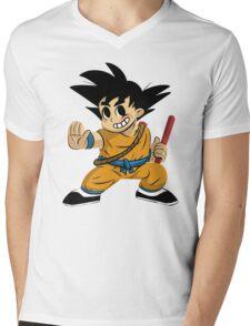 Kid Goku Mens V-Neck T-Shirt