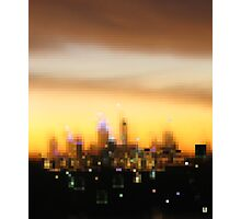 City in evening dress - City sunset, Perth Photographic Print