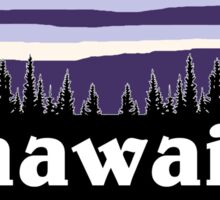 Purple Hawaii Sticker
