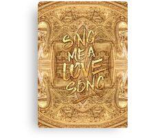 Sing Me A Love Song Opera Garnier Antique Sheet Music Canvas Print