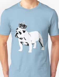 English Bulldog and Crown Unisex T-Shirt
