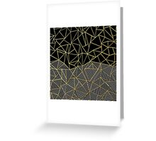 Ab Half and Half Gold Greeting Card