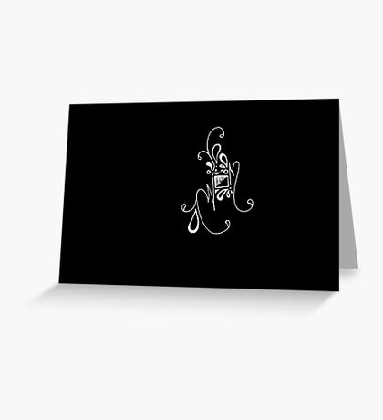 Abstract B&W I Greeting Card