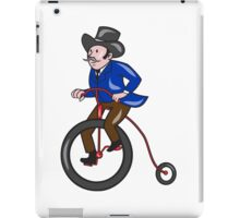 Gentleman Riding Penny-farthing Cartoon iPad Case/Skin