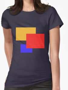 coloured squares Womens Fitted T-Shirt