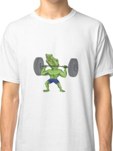 Sobek Weightlifter Lifting Barbell Caricature Classic T-Shirt