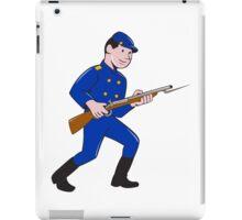 Union Army Soldier Bayonet Rifle Cartoon iPad Case/Skin