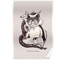 Wolf's Mona Monkey I Poster