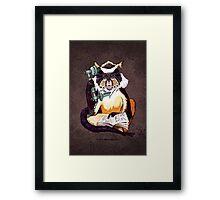 Wolf's Mona Monkey II Framed Print