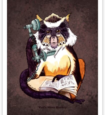 Wolf's Mona Monkey II Sticker