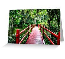 Little Red Footbridge Greeting Card