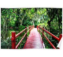 Little Red Footbridge Poster