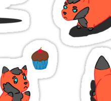 Chubby Foxes Sticker