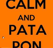 Keep Calm And Pata Pon Sticker