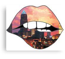 Cleveland Lips Canvas Print
