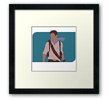 Nathan Drake - Minimalist  Framed Print