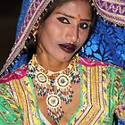 Portrait of a Dancer in Rajasthan, India by Carole-Anne
