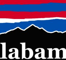 Alabama Red White and Blue Sticker