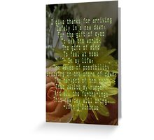 I give thanks ... Greeting Card