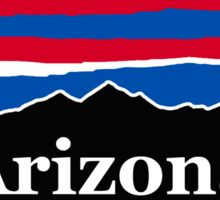 Arizona Red White and Blue Sticker